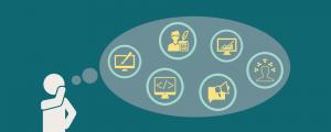 Business owner assembling digital marketing team