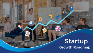 Startup business owner discussing growth roadmap