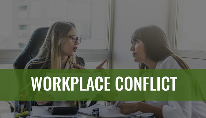 two staff having conflict in a workplace